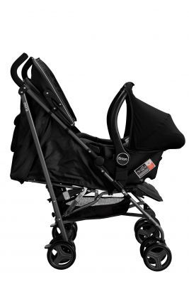 Brion Mira Seyahat Sistemi Bebek Arabası - Siyah