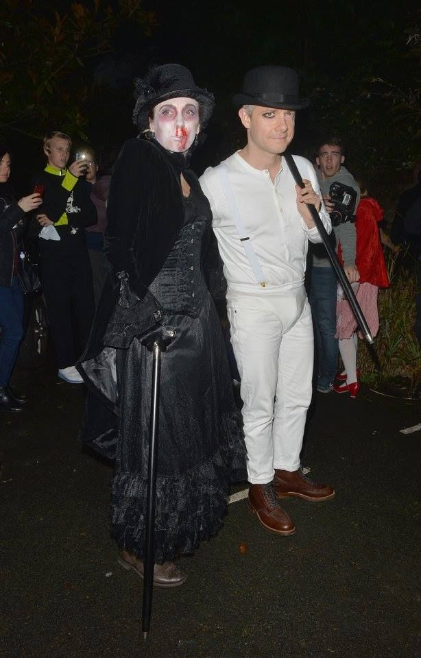 Martin and Amanda - 31 October 2015 - Jonathan Ross's annual Halloween Party