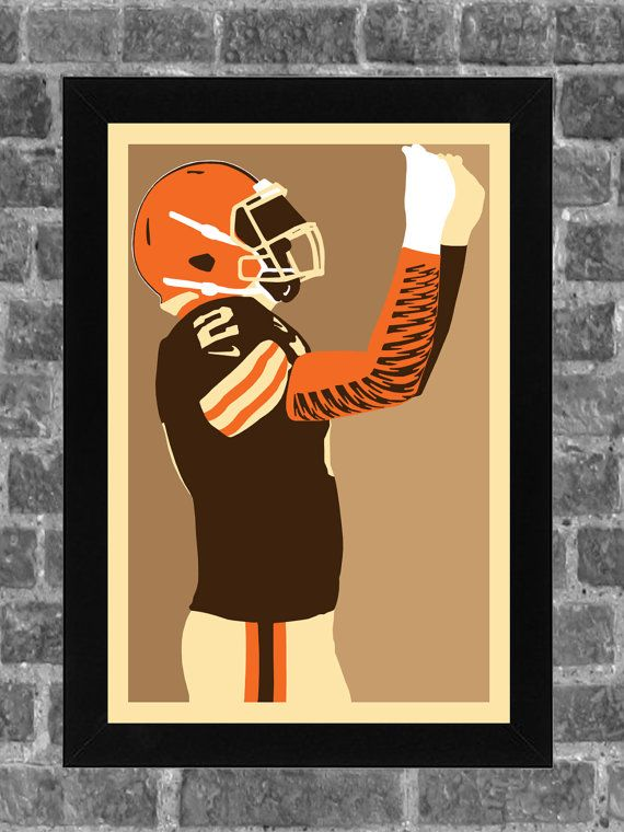 Cleveland Browns Johnny Manziel Portrait Sports Print Art 11x17
