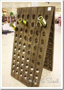 an creative, simple and modern wood wine storage!