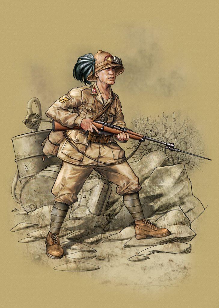 Regio Esercito - Bersagliere in tenuta coloniale
