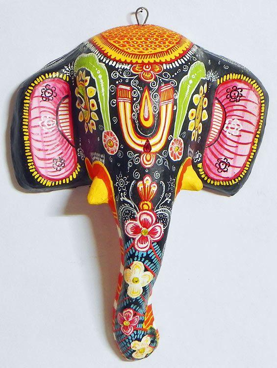 Elephant Mask - Wall Hanging (Papier Mache))