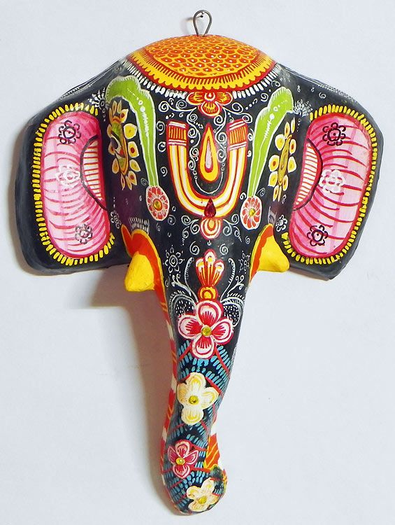 Elephant Mask - Wall Hanging (Papier Mache))