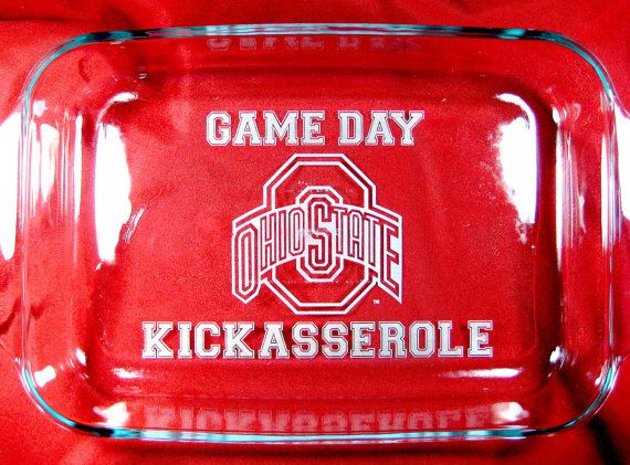 Game Day Kickasserole Ohio State and Notre Dame Personalized