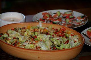 Marinált tenger gyümölcsei saláta