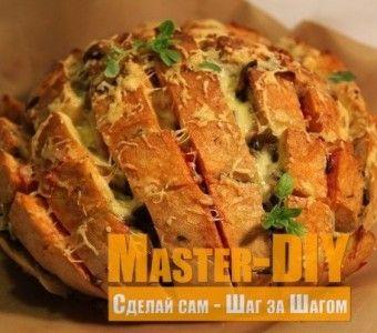 Закусочный хлеб с начинкой кулинарный рецепт. Ингредиенты для приготовления закуски из хлеба.