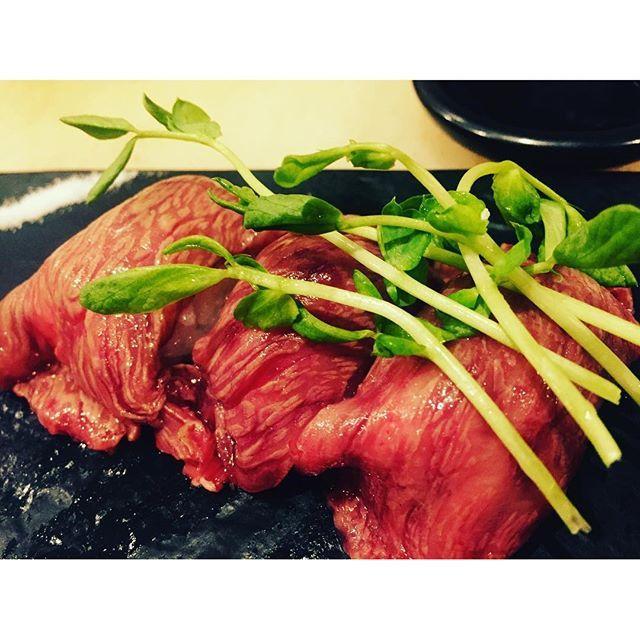 #岡山 が誇る#ブランド牛 ! #千屋牛 の#肉寿司 #大好評 です!!(≧∇≦)/ 今月の人気黒板メニューです♡ #磨屋町#岡山 #肉 #肉肉肉#肉バルthecarne #肉バル#肉好き #肉女子 #肉好き達へ贈る圧倒的な肉料理の数々 #肉好きが集う場所 #肉好き #バルスタイル #バル#美味しい料理 #美味しいものたくさん #笑顔#肉まみれ#週末#肉日和#岡山飲食店#岡山県#岡山で肉 #おかやま#THECARNE