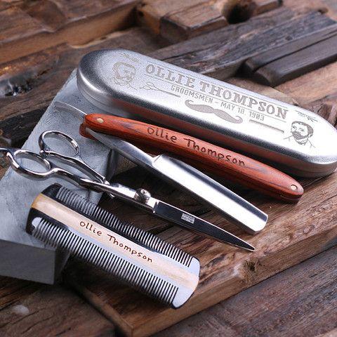 Personalised Barber Grooming Gift Set