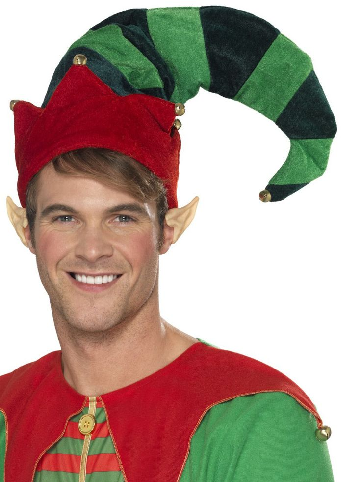 Cappello da elfo con campanellini per adulto - Natale