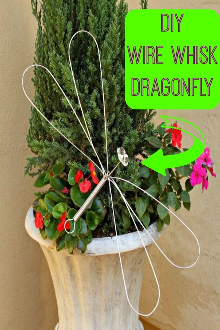 Such a smart use for a wire whisk ~ turn it into a dragonfly.