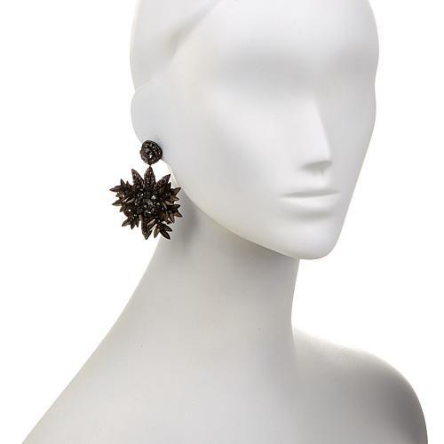 "deepa by Deepa Gurnani® ""Anya"" Beaded Flower-Design Drop Earrings"