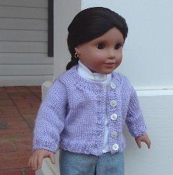 "Knit Boxy Cardigan for 18"" Dolls"