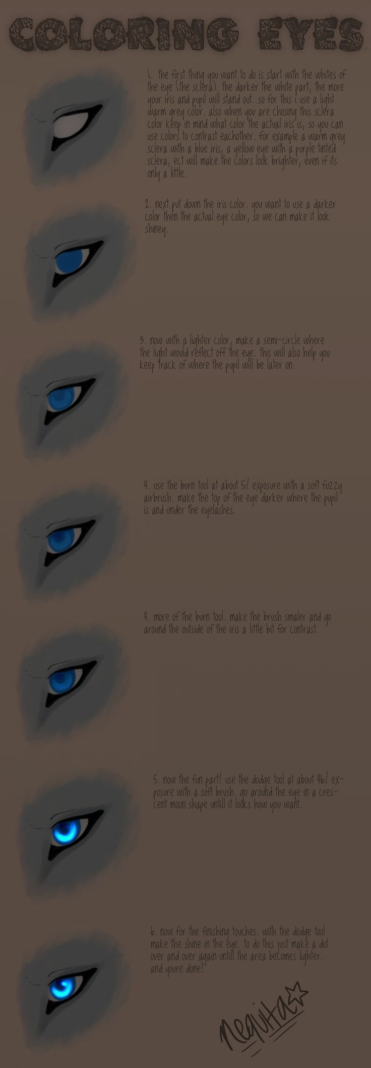 How I Draw Eyes : Tutorial by nequita.deviantart.com on @deviantART