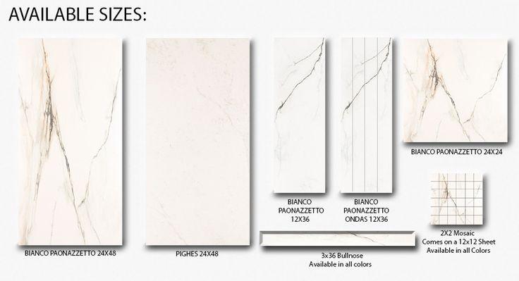 SD Marmi Classico Bianco Carrara Paonazzetto Polished Rectified Made in Brazil Porcelain Tile