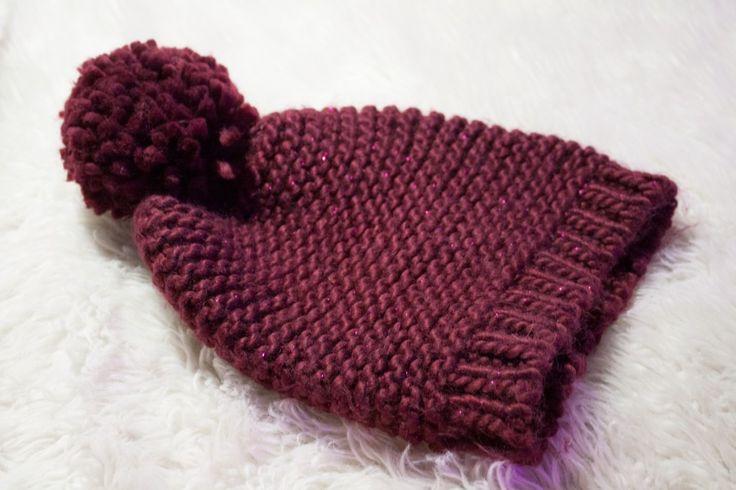 Bonnet aux aiguilles circulaires #Tricot #Knit #Wool