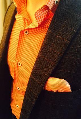 The color orange communicates a happy disposition & a good sense of humor!