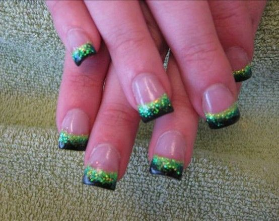 It Works! Green and Black. If only my other job was a place I could wear nails!