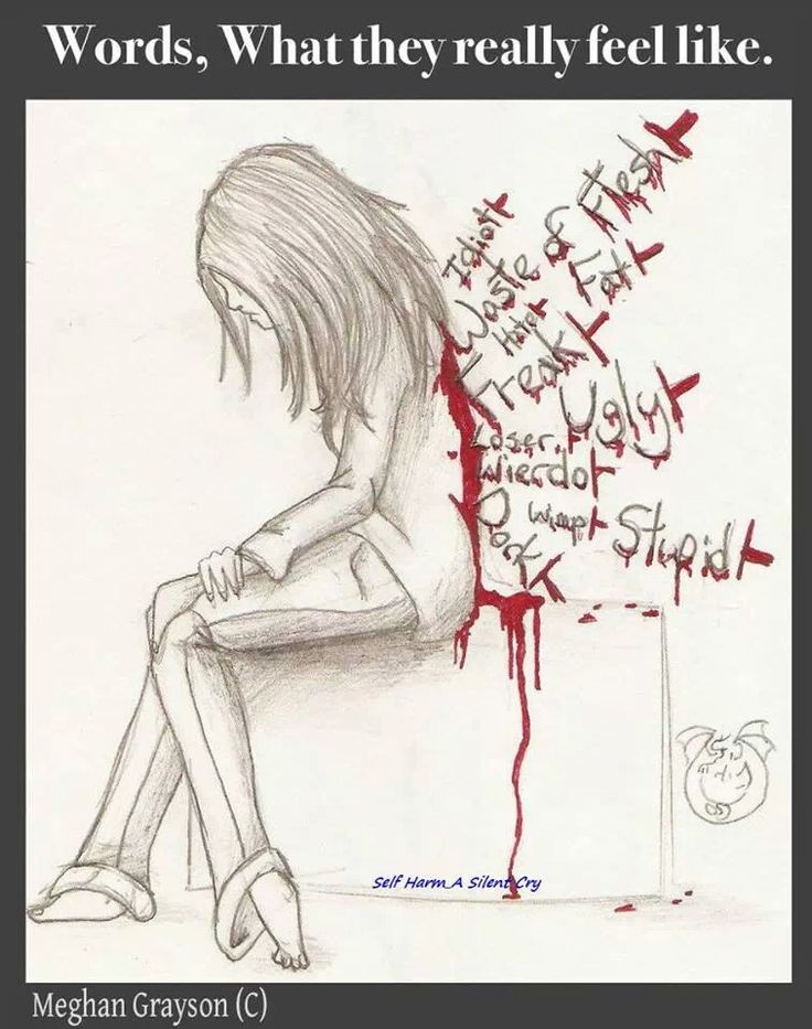 Be careful what you say. Everyone is fighting a battle no one knows about. Strong message artwork. Bullying inspired art.