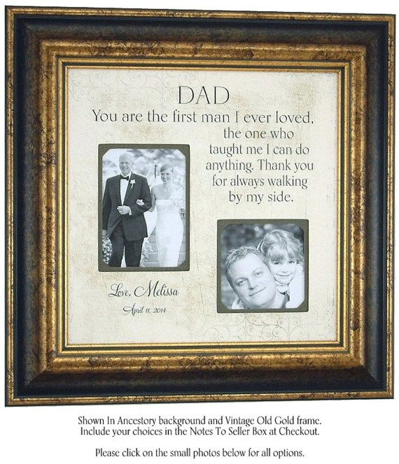 This father of the bride frame makes us weep! Surely it will make your father weep too! If you wanted to create something similar, you could get our wooden 3D deep shadow box frame with removable perspex. Get more ideas for affordable DIY wedding and handmade favour ideas at www.craftmill.co.uk