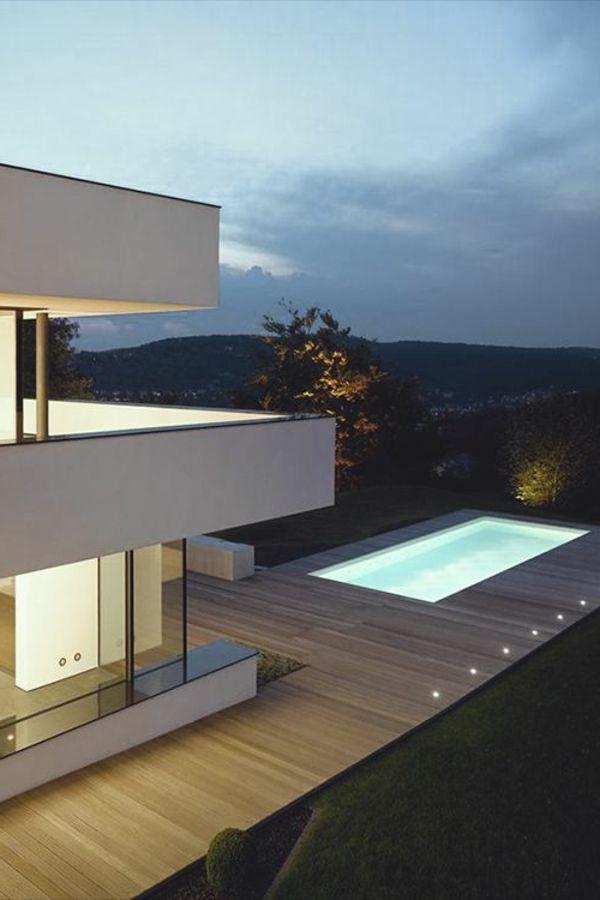 petite piscine hors sol, maisons modernes jolies