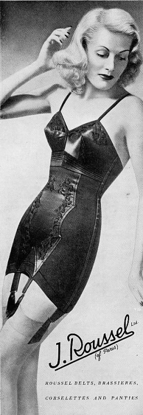 Meredith. Black satin corselet.
