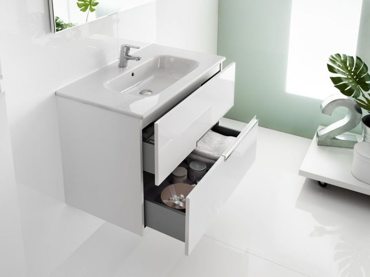 Roca Victoria-N Unik 2 Drawer Vanity Unit with Basin : UK Bathrooms
