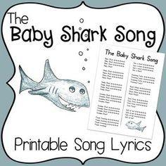 Baby Shark Song | Baby shark song, Baby shark lyrics ...