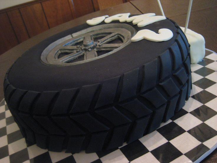 pin tire birthday cake cake on pinterest. Black Bedroom Furniture Sets. Home Design Ideas