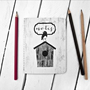 Image of Robin on Birdhouse Notebook - by The Paperbird Society.
