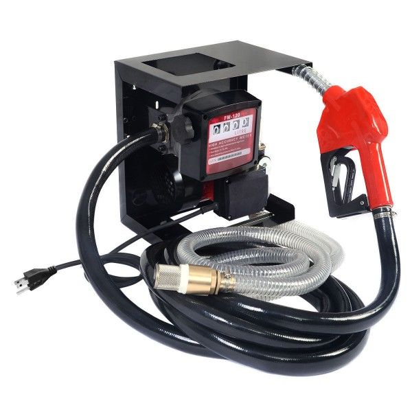 This is our diesel oil transfer pump. It is designed for transferring diesel oil or kerosene for vehicle, oil warehouse, construction site, farm and outside work for easy convenient filing. Its power supply is electricity, which will be very clean and convenient. It is working voltage is 110V, and the plug is America standard outlet. It has a heavy duty construction, and will surely offer you a long working life.