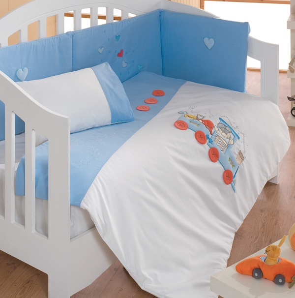 Locomotive Blue-Baby Bedding Set