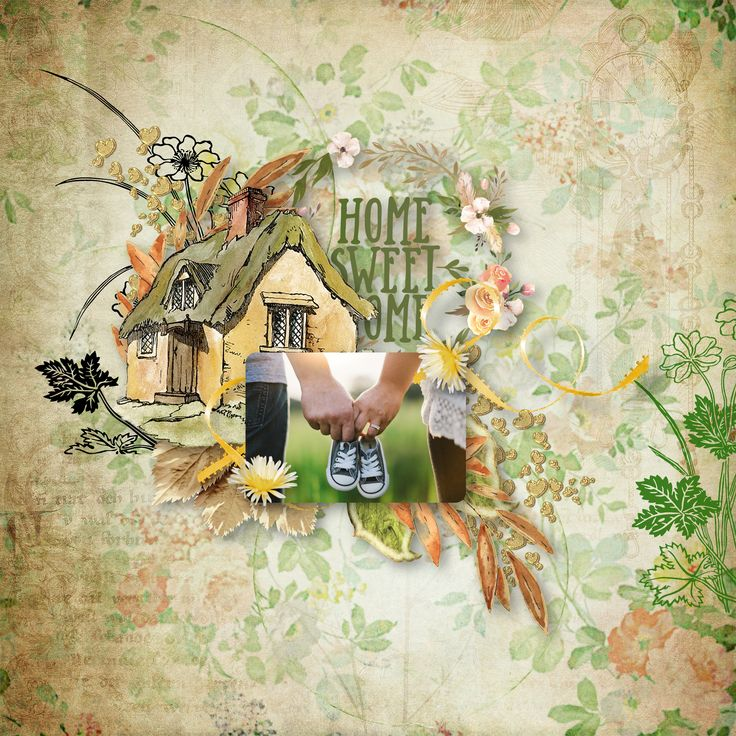 """""""Home Sweet Home"""" by Scrapbookingdom, https://www.etsy.com/au/listing/569289000/home-sweet-home-digital-scrapbooking-kit?ref=shop_home_active_1, photo Pixabay"""