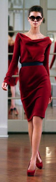 Victoria Beckham. Classic Winter Red.