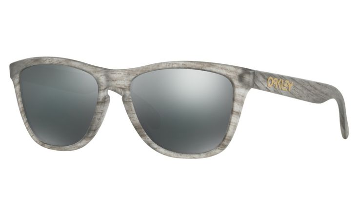 Shop Oakley Frogskins® Driftwood Collection in Matte Clear Woodgrain / BLACK IRIDIUM at the official Oakley online store.