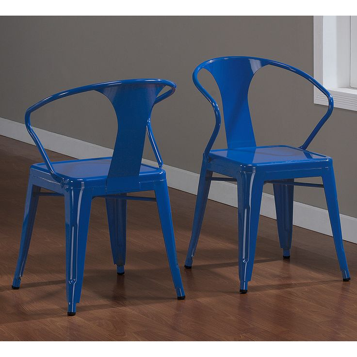 Baja Blue Tabouret Stacking Chairs (Set Of   Overstock Shopping   Great  Deals On Dining Chairs