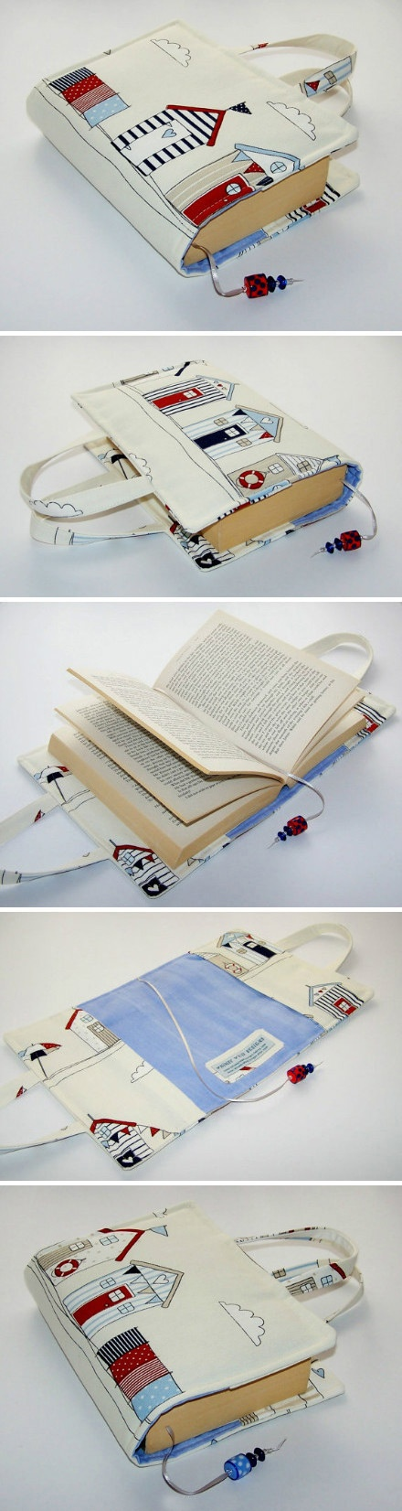 PHOTO DIY PART 2: This is to show using canvas and Sharpies can make a book cover with handles unique.