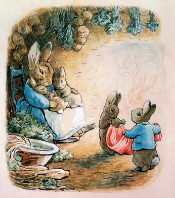 Peter & Cotton-Tail Folded Up The Pocket Handkerchief Mural - Beatrix Potter| Murals Your Way