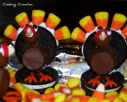 Cooking Creation: Candy Pilgrim Hats and Oreo Turkey Treats     // 2 great ideas in this link!