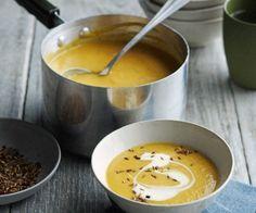 Soupe de carotte aux lentilles