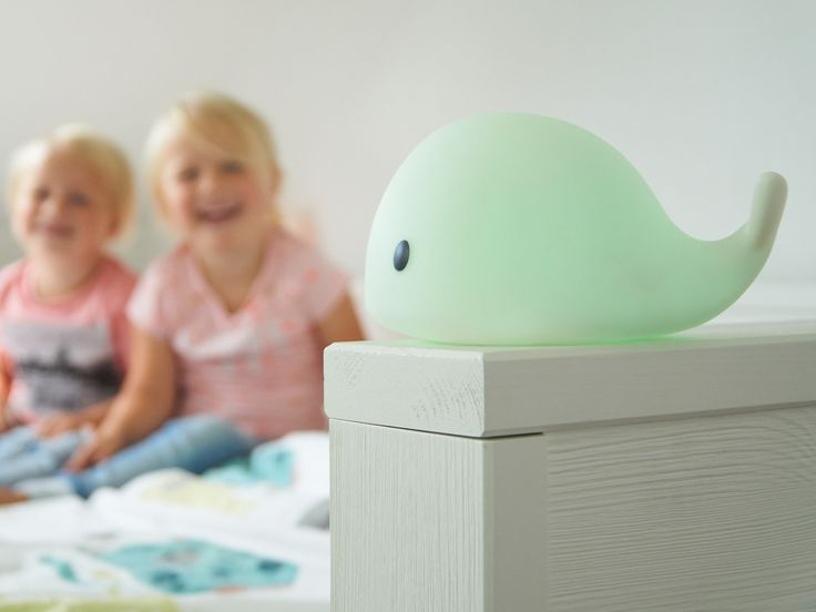 Nachtlampje Night light Kids interior kids room Scandinavian moby whale Night light walvis