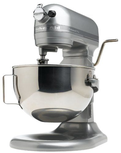 KitchenAid KV25GOXMC Professional 5 Plus 5-Quart Stand Mixer, Metallic Chrome…