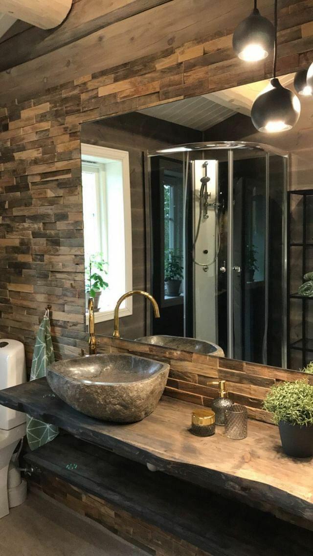 Unique River Stone Sinks In 2020 Bathroom Design Decor Rustic Bathroom Designs Bathroom Interior Design