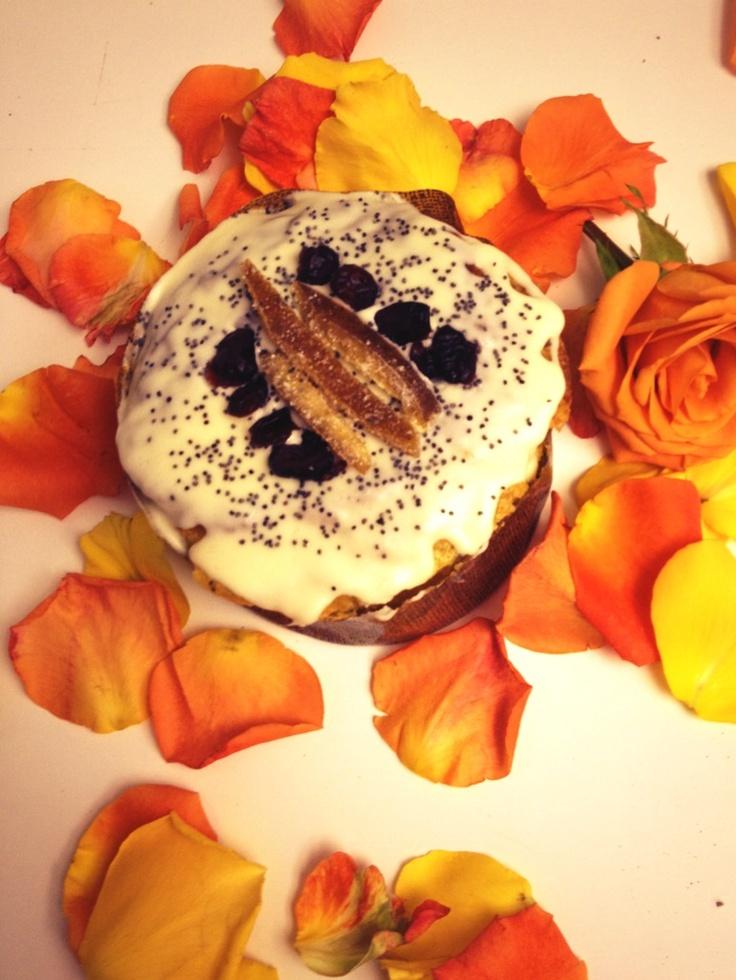 Torta de naranja y amapola