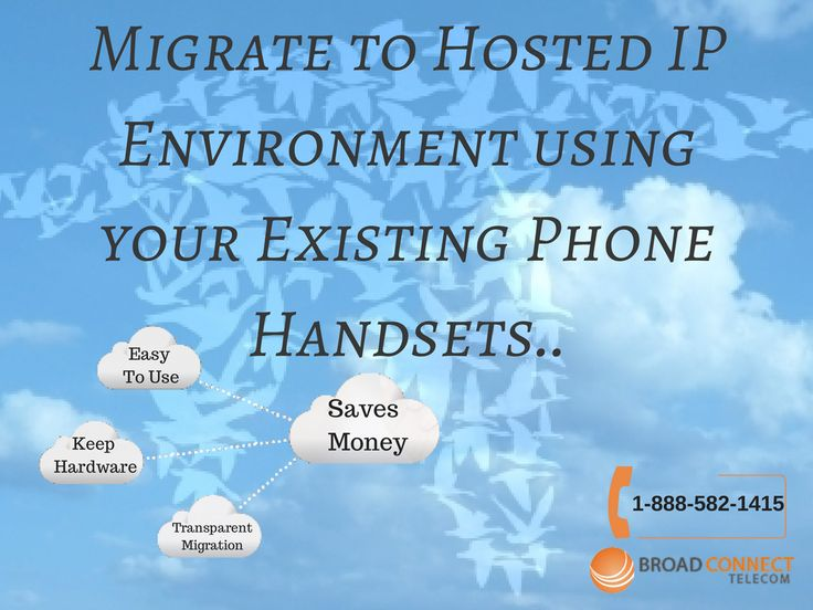 BroadConnect offers their clients an opportunity to migrate their legacy phone systems to a flexible telephony platform that works based on cloud technology. Users can use their existing phone handsets manufactured by companies like Nortel, NEC, Panasonic, Toshiba, Siemens and more with the companies Hosted IP telephony system. The striking advantage is that new IP endpoints for phone conversations can be established using the existing communication infrastructure. Migration towards a ...