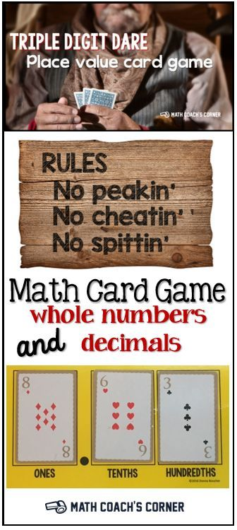 This engaging card game can be used for comparing numbers from 2-digits to decimals!