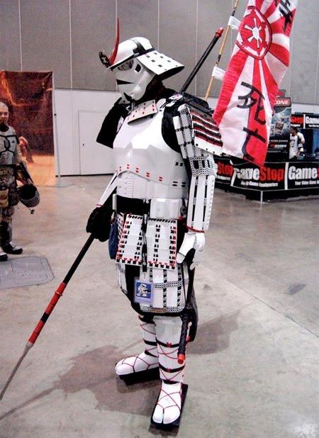 Amazing samurai stormtrooper - star wars, win, cosplay, samurai, storm trooper, funny,