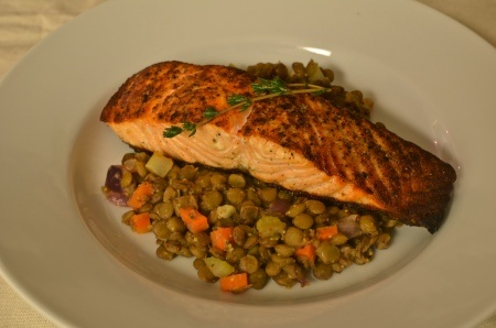Salmon with Lentils | Recipes | Pinterest
