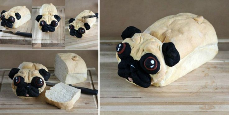 Bread loaf that looks like a pug is just too cute to eat