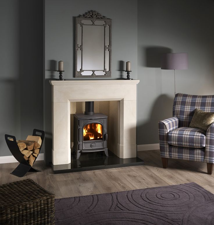 """Parrona 48"""" in Umbrian Honed Stone Stove : 490 Sigma Chamber : Fireboard Portrait Reeded Hearth : Polished Granite"""