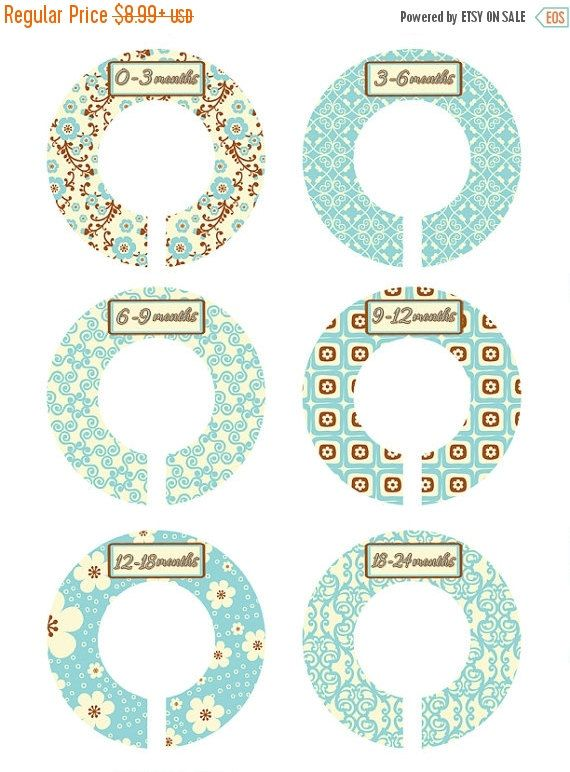 BIG SALE Shabby Chic Closet Organizers Flower by MoonLitPrintables